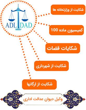 وکیل دیوان عدالت اداری در تهران